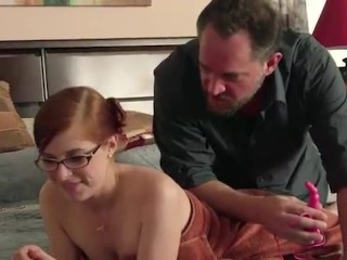 Daughter giving father a blowjob