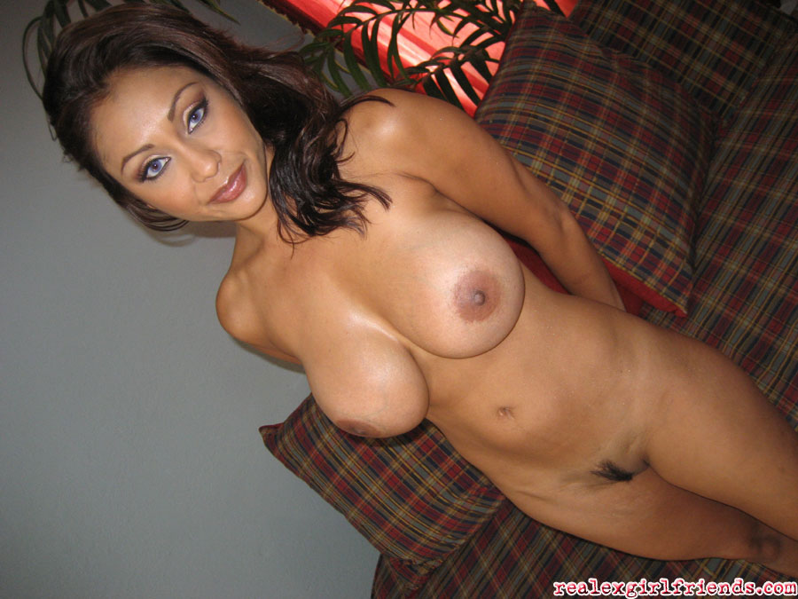 Brunette big tits interracial